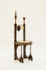 Restauration Throne chair Carlo Bugatti